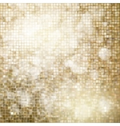 Golden mosaic background EPS 10 vector image vector image