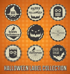 Happy Halloween Labels and Icons vector image vector image