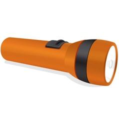 an orange torch vector image vector image