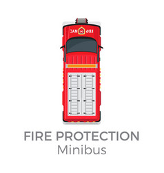 fire protection minibus means of transportation vector image vector image
