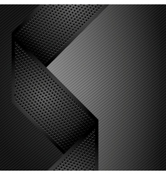 metallic ribbons on gray corduroy background vector image