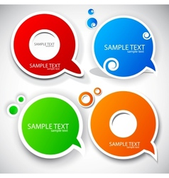 paper round bubble for speech vector image vector image