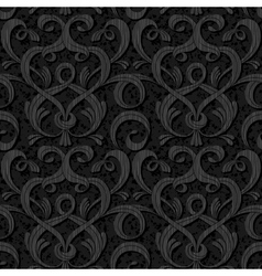 ribbon black isolated seamless background vector image vector image