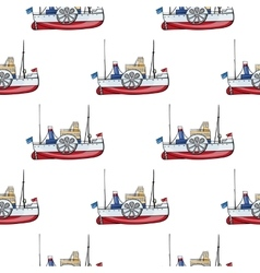 seamless pattern water transpor kids toy vector image vector image