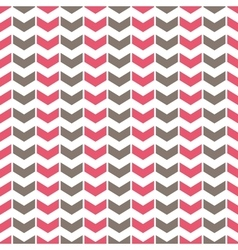 Tile pattern with pink and grey arrows on white vector image vector image