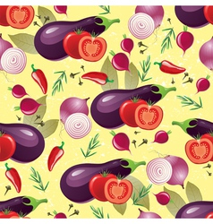 violet vegetables seamless vector image