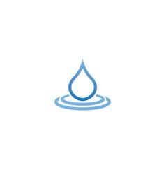 a drop water falls into lake for logo vector image