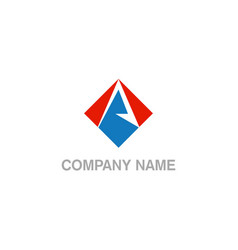 a initial colored company logo vector image