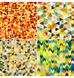 Abstract Mosaic Patterns vector
