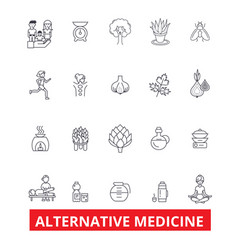 Alternative medicine healing therapy vector