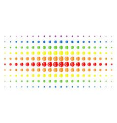 android robotics spectral halftone grid vector image