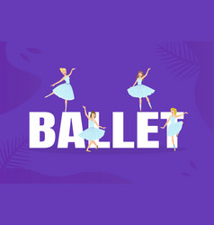 banner template with ballet word and beautiful vector image