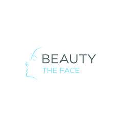 Beauty facial logo design feminim vector