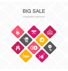 Big sale infographic 10 option color design vector