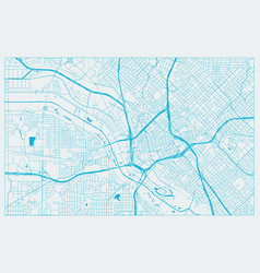 Blue and white city map dallas vector