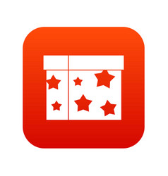 Box magician icon digital red vector