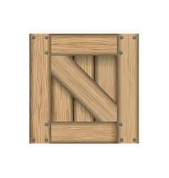 Box wooden wood planks vector