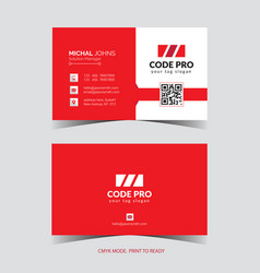 Business card template layout image vector