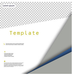 Business presentation template from infographic vector