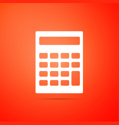 calculator icon isolated on orange background vector image