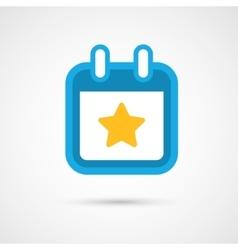 Calendar Icon - star vector image