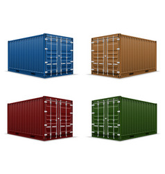 cargo container 104 vector image