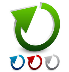 circular arrow 3d cyclic arrows restart loop vector image