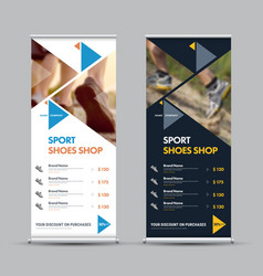 design of a universal roll-up banner with vector image
