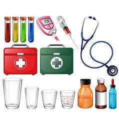 Different medical sets vector