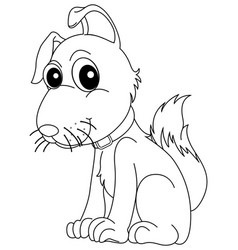 Doodle animal for little dog vector