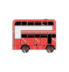 doodle london bus urban city transport vector image