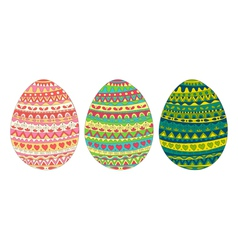 Easter egg card colors vector