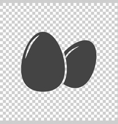 egg icon flat on isolated background vector image