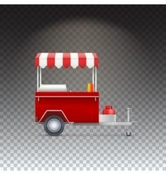 Fast food cart street shop vector