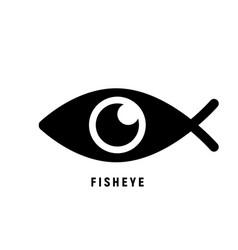 fisheye logo icon mobile lens symbol vector image