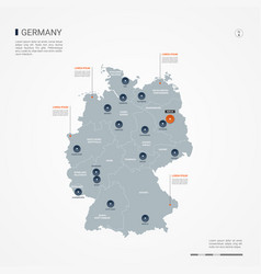 Germany infographic map vector