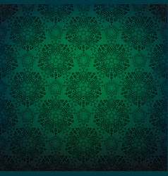 green lace repeating pattern vector image