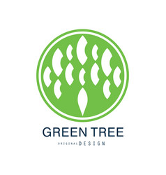 green tree logo original design green eco and bio vector image