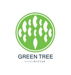 green tree logo original design green eco and bio vector image vector image