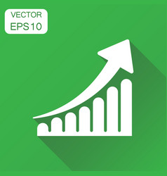 growth chart icon business concept grow diagram vector image