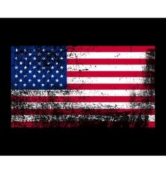 Grunge flag america vector