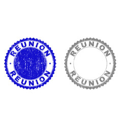 Grunge reunion scratched watermarks vector