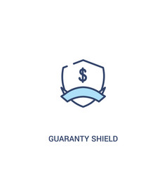 Guaranty shield concept 2 colored icon simple vector