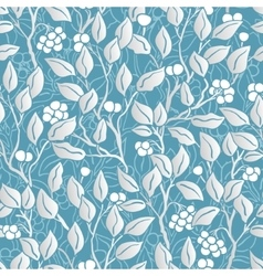 Hand painted eaves seamless floral pattern vector
