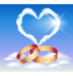 heart in the clouds vector image