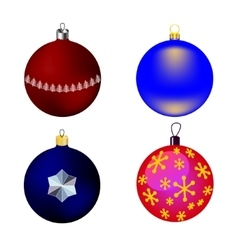 images four Christmas-tree toys vector image