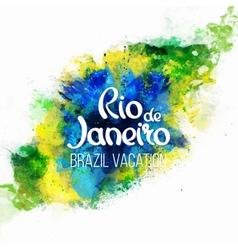 Inscription Rio de Janeiro Brazil vacation vector image
