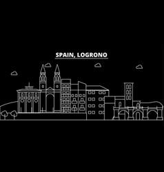 Logrono silhouette skyline spain - logrono vector
