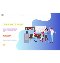 men and women corporate party after workday vector image