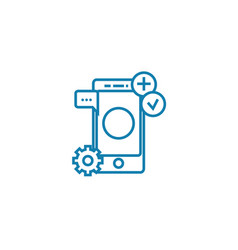 mobile platform linear icon concept mobile vector image